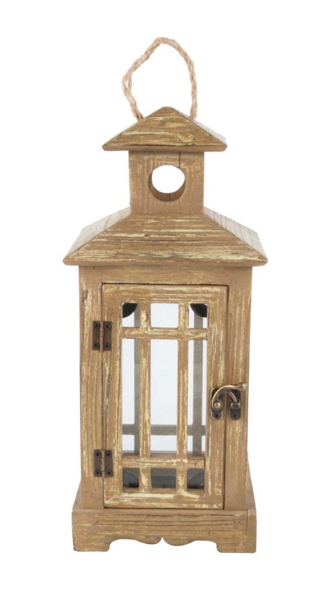 Holzlaterne eckig / wooden lantern angled