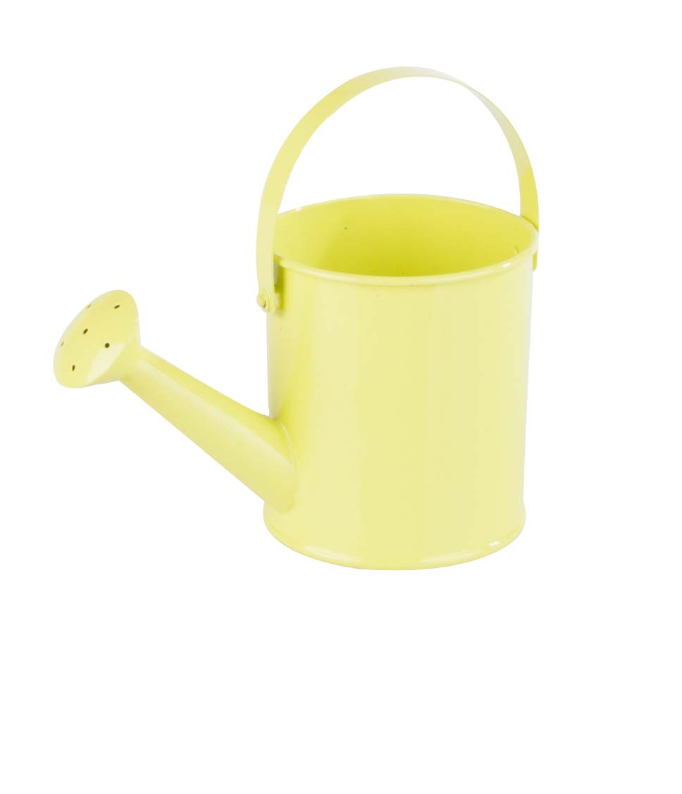 Gelbgrüne Gießkanne klein / yellow green watering can small