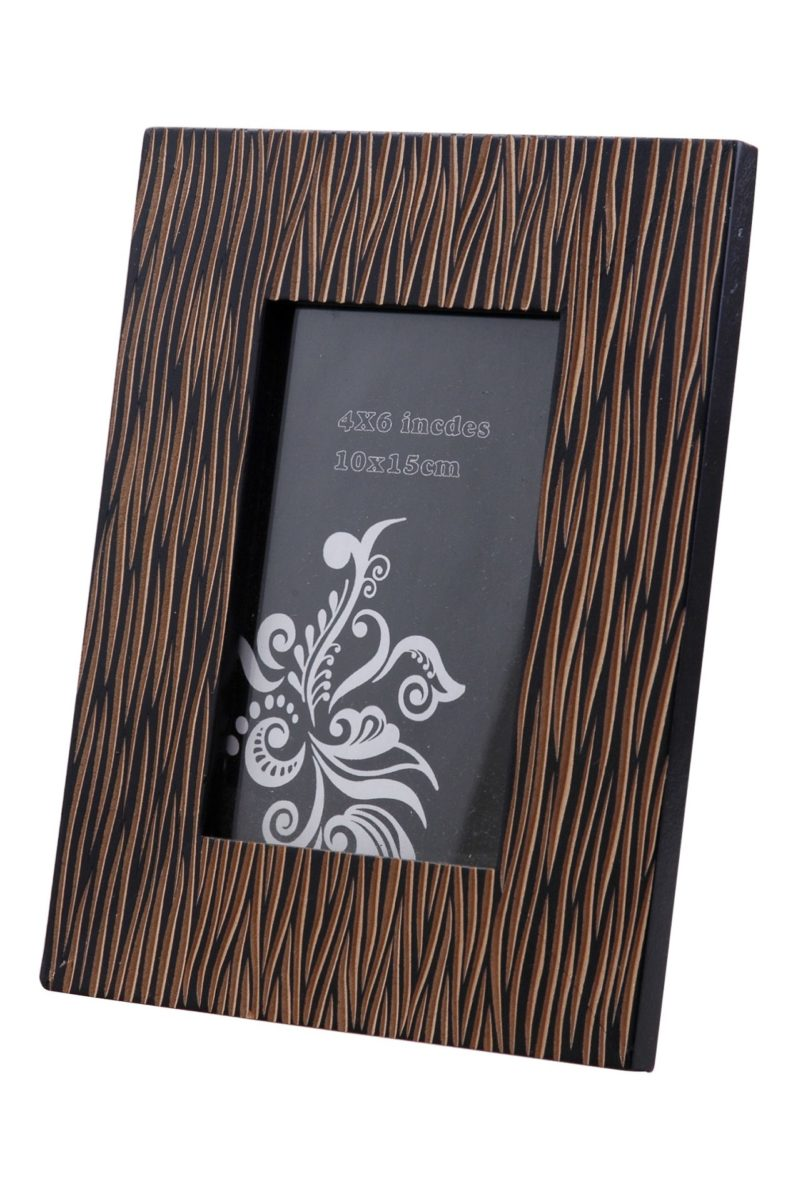 Bilderrahmen verziert schwarz / picture frame decorated black